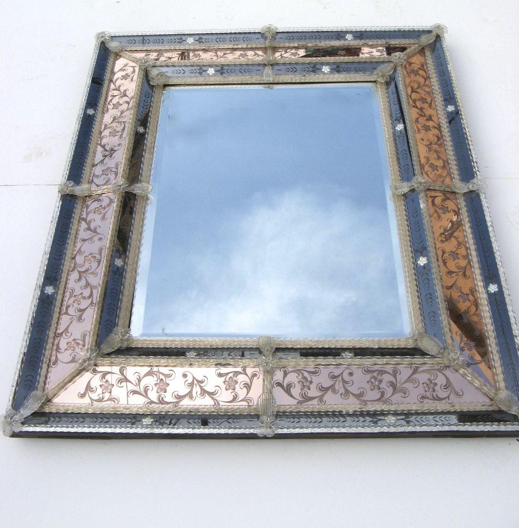 Hollywood Regency Venetian Mirror