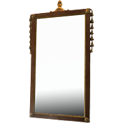 English walnut Queen Anne Mirror