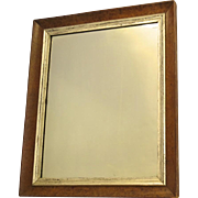 Bird's Eye Maple Framed Mirror with Silver Leaf Slip c 1840