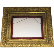 Victorian Gilt Gesso Frame with Red Velvet Slip