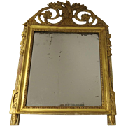 French Carved and Gilt Mirror with Bird Motif