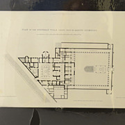 Engraving of Pompeii Architectural Plan of the Villa Arrius Diomedes