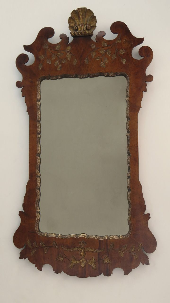 Queen anne style walnut gilt mirror from blacktulip on for Queen anne style