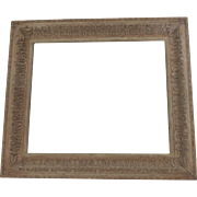 Mid Century Limed Closed Cornered Carved Frame