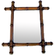 French Faux Bamboo Mirror.