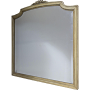 20th Century French painted Mirror with Bevel Plate.