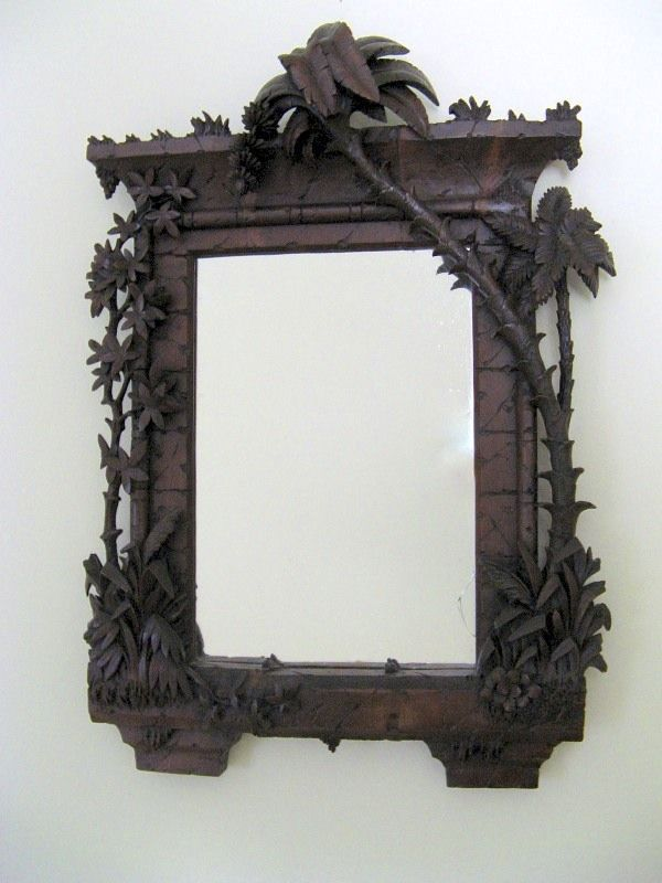 Fabulous Fantasy Carved Mirror Palm Trees