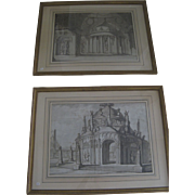 Pair of Architectural Drawings