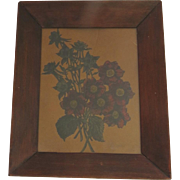 Pair of Vintage Framed Floral Pictures Decorated by Tom Fitz-Simmons Country Floral