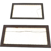 Two Vintage Similar Painted Frames