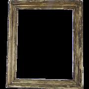 19th Century Horizontal or Vertical Worn Gilt Frame