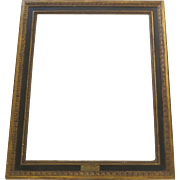 Vintage Gilt and Black Painted Picture Frame