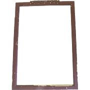 Vintage Shabby Chipped Red Painted Frame