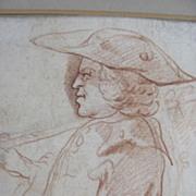 Man in Profile Red Chalk Louis de Carmontelle