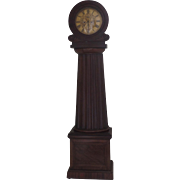 Scottish Longcase Grandfather Mahogany Clock Columnar Case, Drumhead Face David McGeorge Glasgow