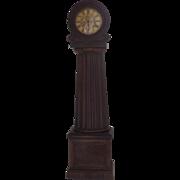 Scottish Longcase Grandfather Mahogany Clock Columnar Case, Drumhead Face David McGeorge Glasgow