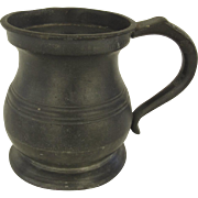 James Yates 1/2 Pint Pewter Tankard Mug 19th Century