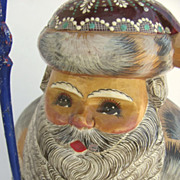 "Hand Carved and Painted Russian St. Nick Santa Large 13 1/2"" Tall"