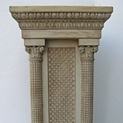 Carved and Painted Pedestal
