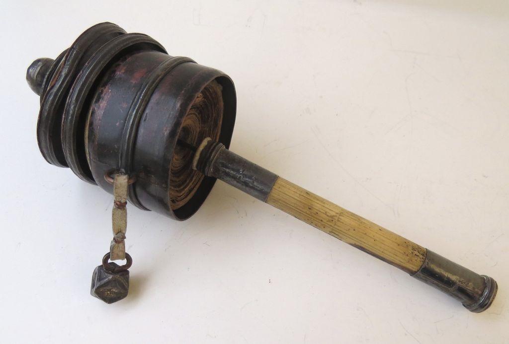 Tibetan Scroll Prayer Wheel
