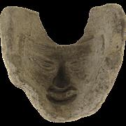 Pre-Columbian Mold for Mask C 800-1500 AD Tulum, Yucutan Peninsula