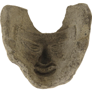 Pre-Columbian Mold for Mask C 800-1500 AD Tulum, Yucutan Peninsula