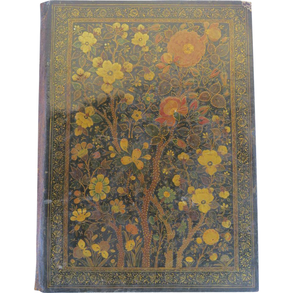 Book Cover Vintage Yoga : Vintage persian lacquered book cover from blacktulip on