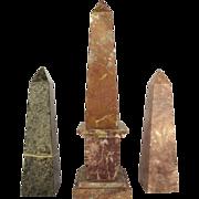 Vintage Marble Obelisk Various Sizes