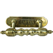 Brass 19th Century Door Pull Letter Slot Cartas