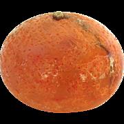 Vintage Carved Alabaster Stone Fruit Tangerine Italian