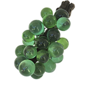 Vintage 1960's Lucite Green Grape Cluster