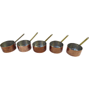 Vintage Copper Small Butter Warmer Sauce Pans by Bazar Francais New York 666