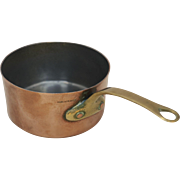 "Vintage Copper Butter Saucepan 3 1/4"" French Made in France"