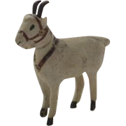 Vintage Wooly Sheep Goat Ram German Stick Leg Harness Candy Container