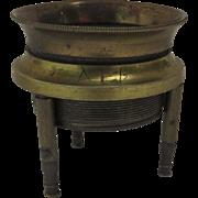 1900's Brass Three Legged Desk Magnifier