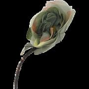 Large Vintage Silk Flower Rose