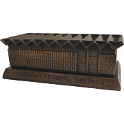 Vintage Mid-Century Architect William Muchow 1958 Coin Bank Colorado Federal Savings