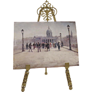 Vintage Miniature Easel Gilt Made in Italy Filagree