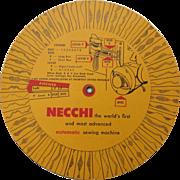 Vintage Necchi Sewing Machine Wonder Wheel Stitch Guide Attachment Accessory Dial Answer