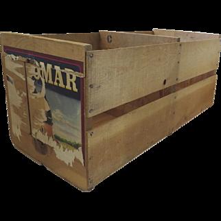 Vintage Wooden Fruit Crate Box Escondido Palomar Brand Observatory