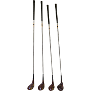 Vintage Set of Four MacGregor Golf Clubs Woods Tourney Velocitized