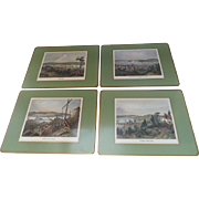 Vintage Set of Four Pimpernel Cork Back Placemats Maritimes in Canada