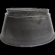 Vintage Tole Metal Lamp Shade Pierce Border Nice Quality