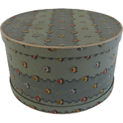 Vintage Wallpaper Hat Box French Blue