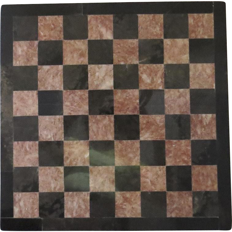 Vintage Marble Pink Black Gray Chess Board