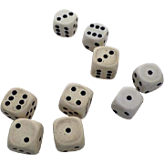 """Group of Nine Vintage Rounded Corners 1/2"""" Dice (9)"""