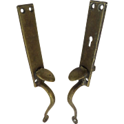 Vintage Russwin Brass Thumb Latch Door Handles Pulls Knobs
