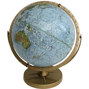 "Vintage '90's  Replogle Land & Sea 12"" Globe"