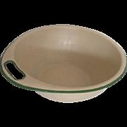 Vintage Enamel Bowl Side Handle