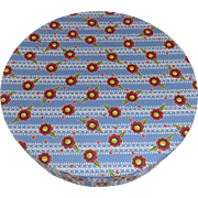 "Charming Mary Engelbreit Round Storage Box Wallpaper 10"" Country"